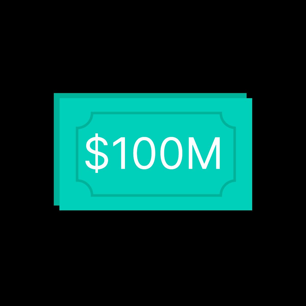 Icon of $100 million cash